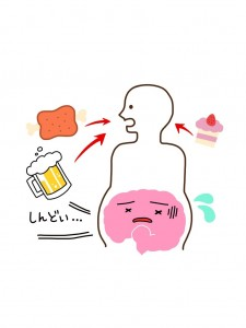 腸が疲れると疲労感