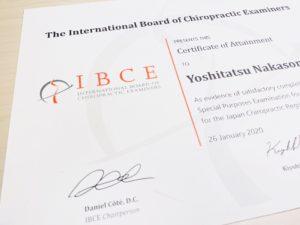 国際カイロプラクティック試験